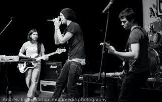Tiago Dias bassist. Abandon Mute gig UK